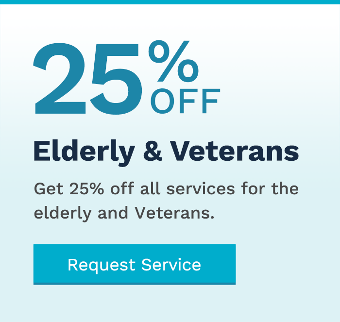25 Percent Off Power Washing Services for Elderly and Veterans Coupon